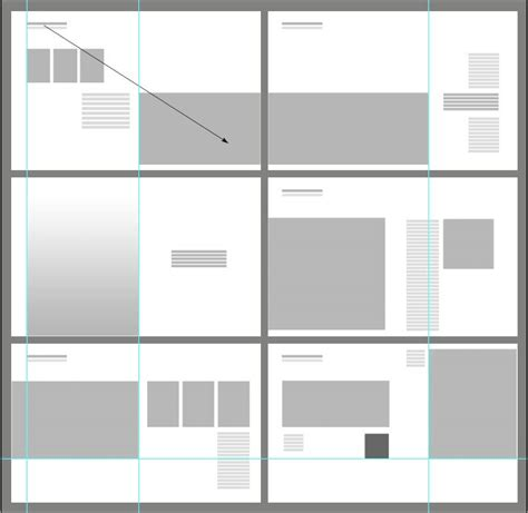 Graphic Layout Diagram For 6 Spreads Notice Full Bleed Vs Border Scale Of Elements Architecture Portfolio Layout Templates