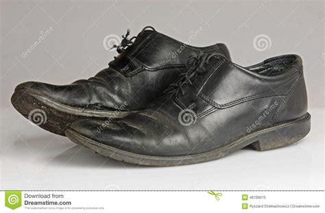 Shoe Unlimited Sr 5003 Black worn and blackshoes stock image image of 46709015