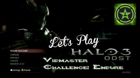let s play halo 3 odst vidmaster challenge endure