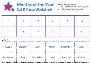 months of the year worksheets guruparents