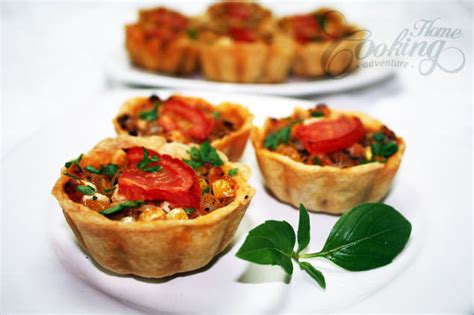 mini tarts with chicken home cooking adventure
