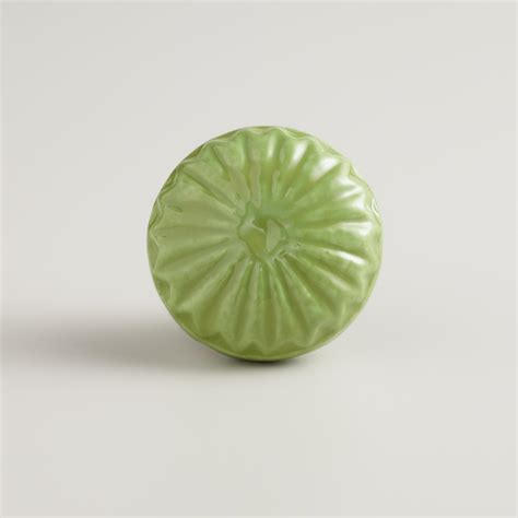 Green Knobs by Green Embossed Ceramic Knobs Set Of 2 World Market