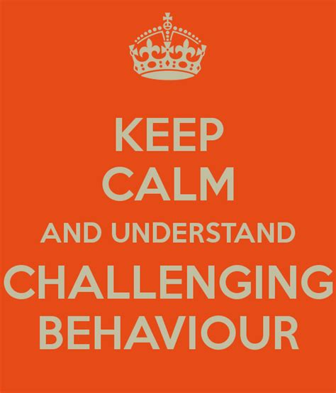 challenging behaviour children keep calm and understand challenging behaviour poster