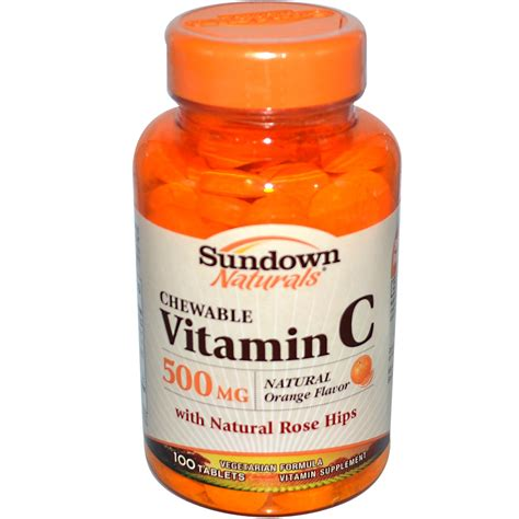 Vitamin Orange 1 rexall sundown naturals chewable vitamin c