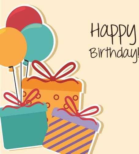 happy birthday greeting card template happy birthday editable card free vector 15 733