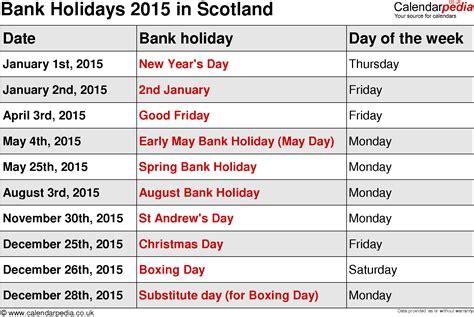 german bank holidays 2015 image gallery scotland 2015 calendar