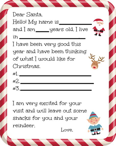 printable letters to send to santa dear santa letter for preschoolers farmer s wife rambles