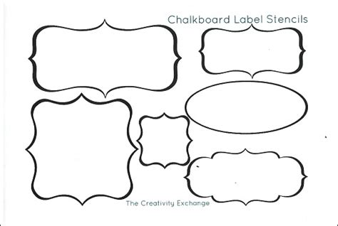 Free Printable Stencils To Make Vinyl Chalkboard Labels Printable Cutting Board Templates