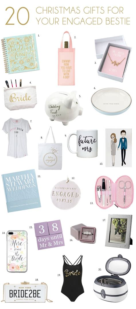 best christmas gift for newly engaged engagement gifts for your best friend