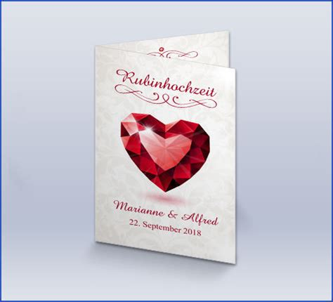 einladung rubinhochzeit daskartendruckhaus de