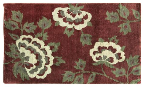 small accent rugs cashlon small brianna floral accent rug red modern
