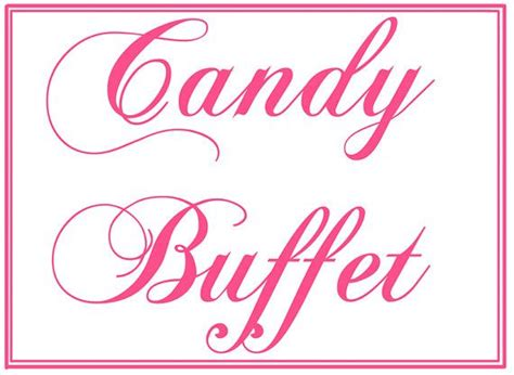 Candy Buffet Printables Bing Images Buffet Signs Templates