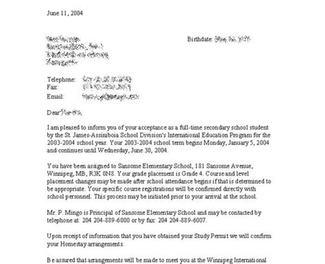 Acceptance Letter For Student Council iep tour report student acceptance letter