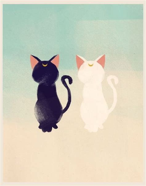 wallpaper cat tattoo sailor moon luna and artemis anime pinterest
