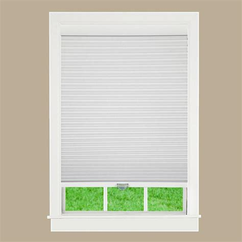 home depot l shades perfect lift window treatment white 1 1 2 in cordless