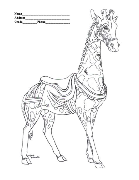 merry go round coloring pages coloring pages