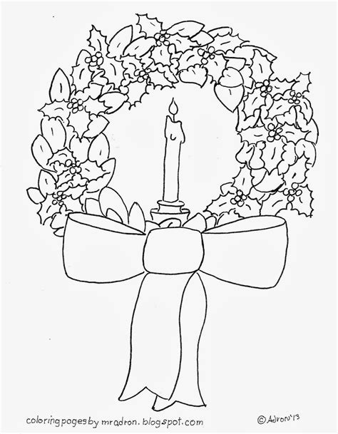 wreath bow coloring page wreath bow coloring page search results calendar 2015