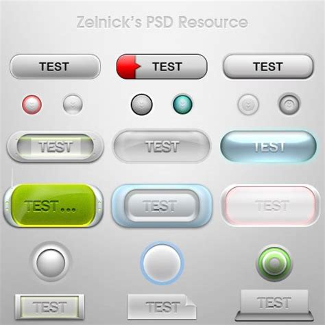 60 outstanding free psd buttons