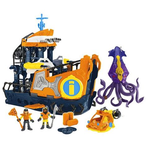 imaginext boat imaginext 174 deep sea mission command boat shop imaginext