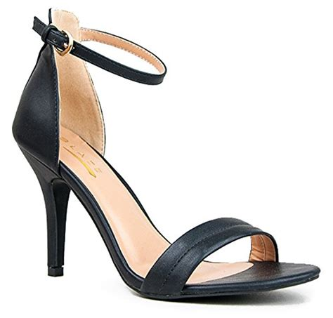 strappy comfortable sandals womens ankle strap high heels dress wedding party heeled