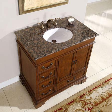 single sink bathroom vanity  granite counter