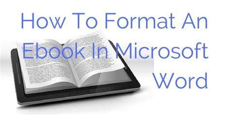 how to format microsoft word for an ebook video