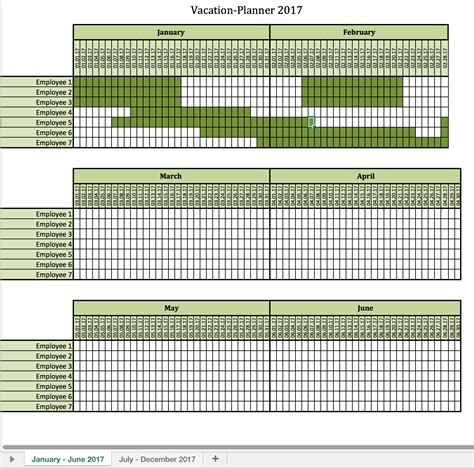 Vacation Planner 2017 Excel Templates For Every Purpose Vacation Schedule Template Excel