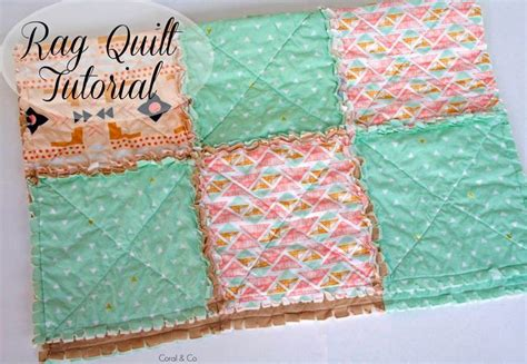 DIY Rag Quilt Tutorial with a Modern Touch   Coral   Co.