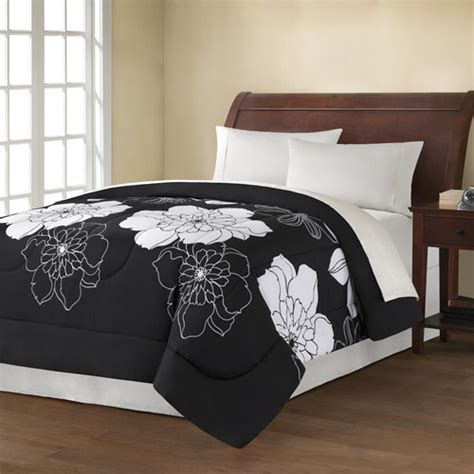 walmart black comforter purchase the mainstays black and white floral comforter at