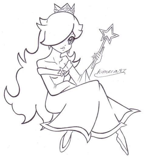 princess rosalina coloring pages lovely rosalina free lines by kimeria87 on deviantart