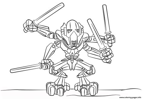 Lego General Grievous Coloring Pages Printable The General Coloring Pages