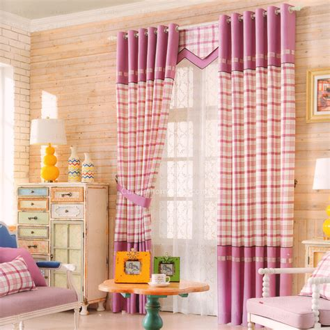 beautiful bedroom curtains modern plaid pattern pink purple beautiful bedroom