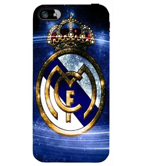 Real Madrid Logo White Iphone 4 4s Casing Hp Cover Hp Hardcase snoogg real madrid blue tone logo 2944 cover for