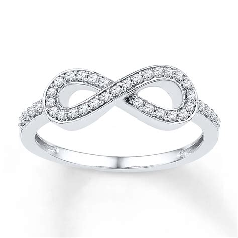 jared infinity ring 1 5 ct tw cut sterling