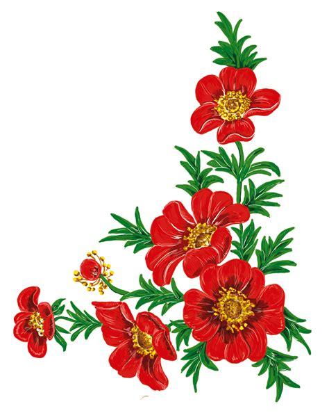 desain gambar fas bunga gambar menanam daun bunga merah lukisan ilustrasi