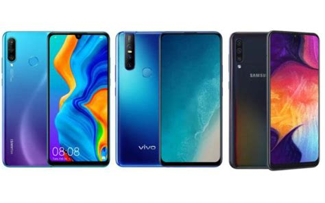 Huawei 4 Vs Samsung Galaxy A50 by Huawei P30 Lite Vs Vivo V15 Vs Samsung Galaxy A50 Price In India Specifications Features