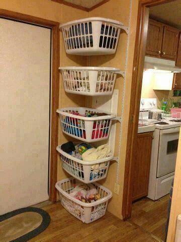 laundry basket shelves easy everyday ideas pinterest