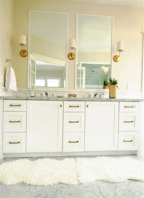 simply life design mixing metals kitchen design white and gold master bath traditional bathroom salt