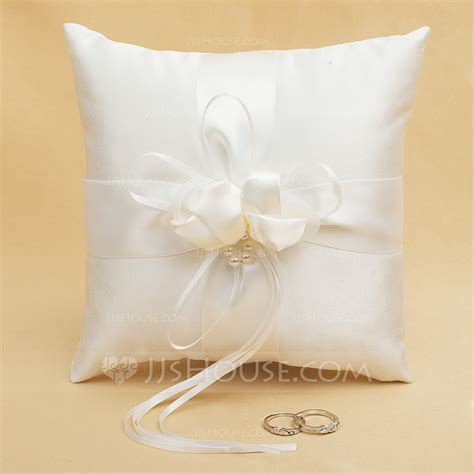 Ring Pillow Uk by Simple Ring Pillow In Satin With Ribbons Rhinestones