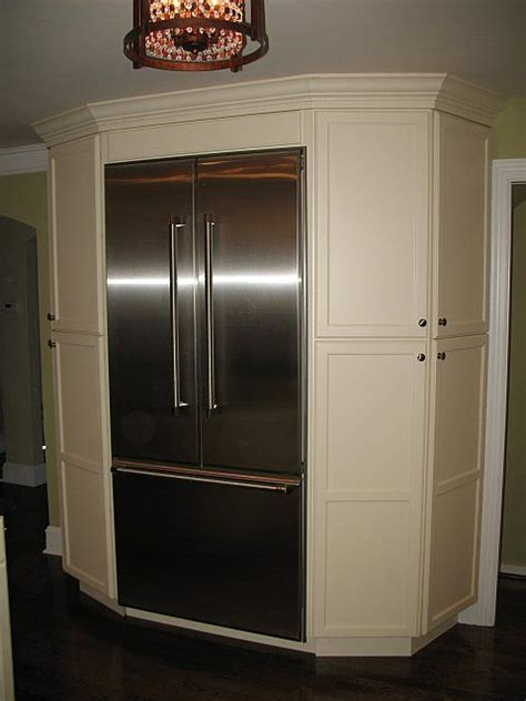 Kitchen Cabinets Around Refrigerator Pantry Cabinets Around Refrigerator This Is Such A Great Idea Normally The Space Around The