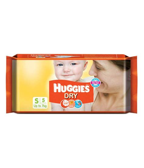 small diapers huggies new diapers small pack of 5 available at snapdeal for rs 55