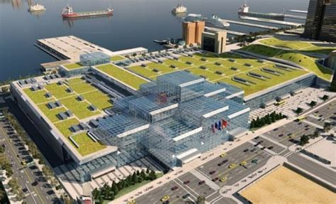 javits center map javits center s green roof becomes bird