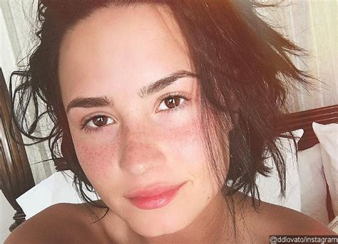 Which Demi Flawless Look Is Most Fab by Demi Lovato Goes Makeup Free In New Picture See