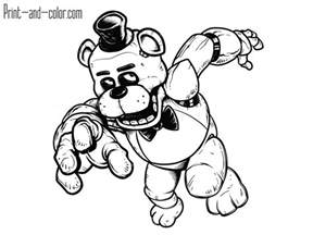 nights freddy coloring pages print color