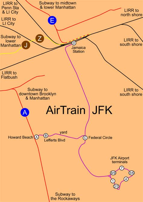 jfk airtrain map world nycsubway org new york city jfk airtrain