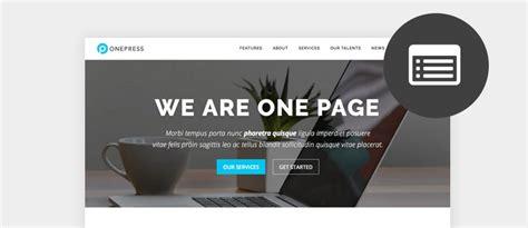 wordpress themes free single page best free one page wordpress themes 2017