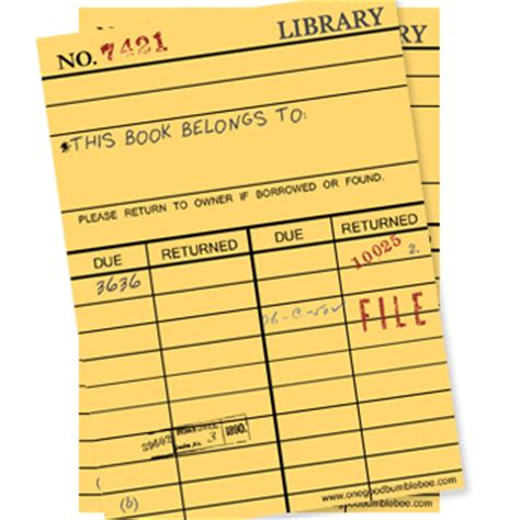 Library Due Date Card Template by Bite Size View Library Card Woes Other Tales