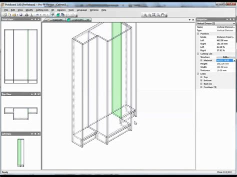 woodwork drawing software design free form furniture with polyboard cabinet and