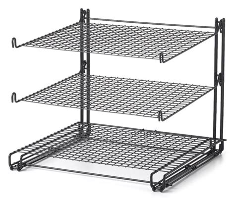 3 Tier Cooling Rack by Nifty 3 Tier Collapsible Nonstick Cooling Rack