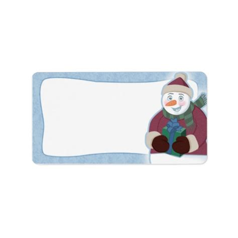 blank address labels christmas snowman christmas address labels blank zazzle